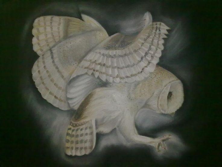 Take To The Night {Sold} ~ Block Mounted Oil Painting by Dawn Du Preez #DawnDuPreez