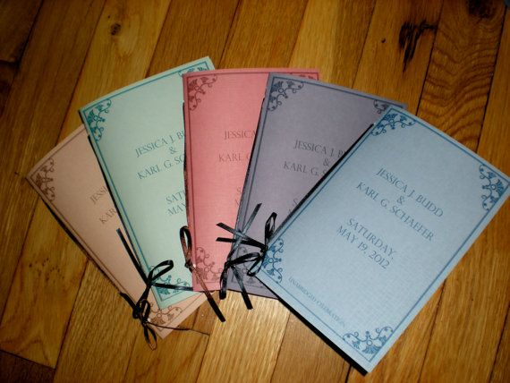 Library Book Themed Wedding Invitations (sample)