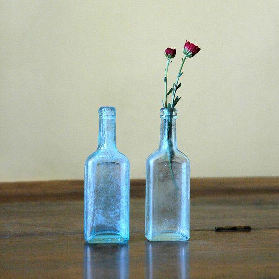 Antique Blue Glass Bottle