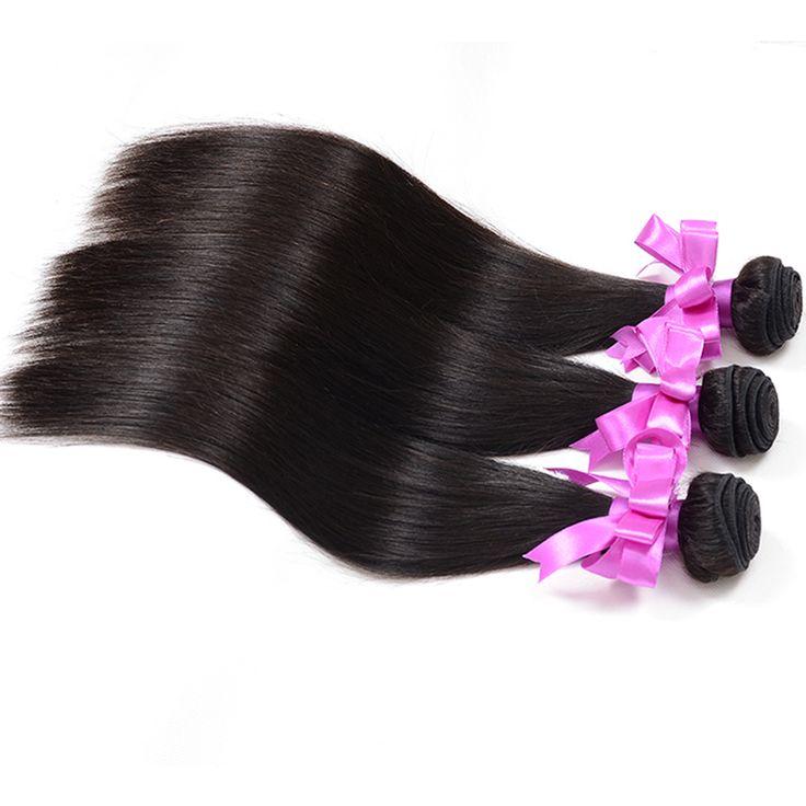 Queen story brasileiro cabelo liso 3 pcs lote pacotes tecer cabelo brasileiro feixes de cabelo humano em linha reta cabelo brasileiro virgem macio