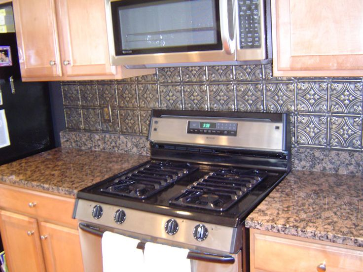 I Wanted Tiles Behind My Stove Or Backsplash When I FINALLY Paint The  Kitchen. The Steampunk Home: Tin BackSplashes