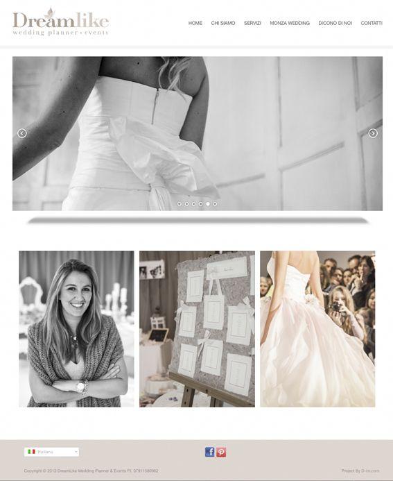 Realizzazione del #sito #web www.dreamlikeevents.it. Sito dedicato all'agenzia Dreamlike #Wedding Planner & #Events, realtà specializzata nell'organizzazione di #matrimoni, eventi corporate o privati. by D-ire.com