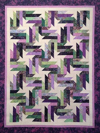 "Moscao d'Asti Quilt pattern Lap: 55"" x 75"" using 28 (2 1/2"") strips Twin: 65"" x 85"" using 41 (2 1/2"") strips Queen: 86"" x 106"" using 56 (2 1/2"") strips King: 106"" x 106..."