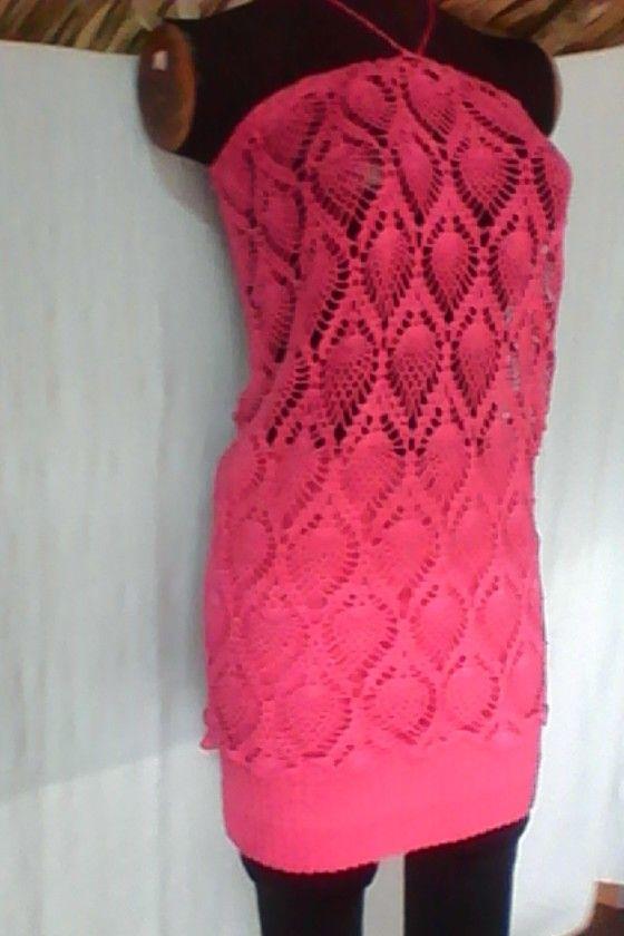 Falda y blusa en crochet