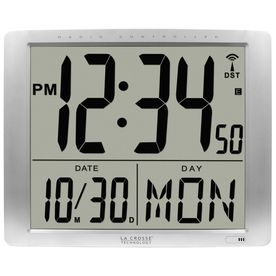 La Crosse Technology La Crosse Technology Bbb87269 20 Inch Extra Large Digital Atomic Wall Clock Bbb87269