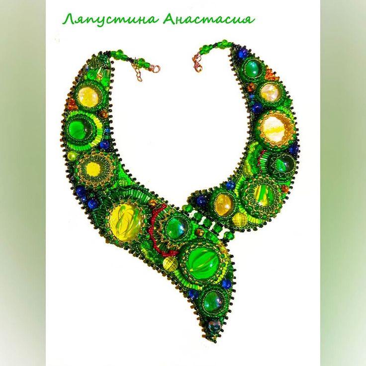Ожерелье из бисера. Ручная работа #ручнаяработа #ручнаяработанефтекамск  #бисер  #ожерелье