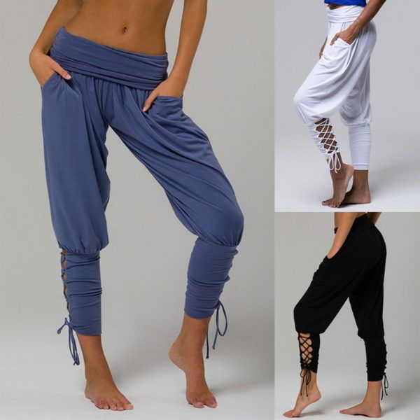 NEW Womens Grey Jersey Lounge Yoga Pants Stretch Fit Wide Leg Joggers Size 8 10