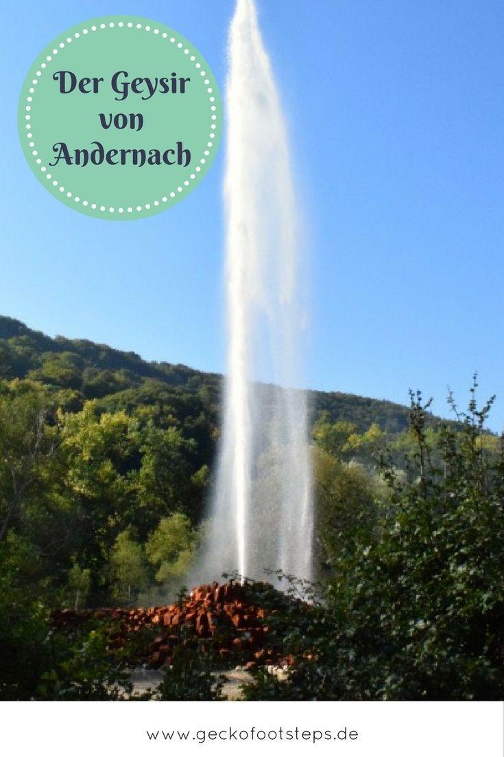 Der Geysir von Andernach ist der höchste Kaltwasser-Geysir der Welt. Ein Naturphänomen der besonderen Art. #geysir #germany #reisen #travel