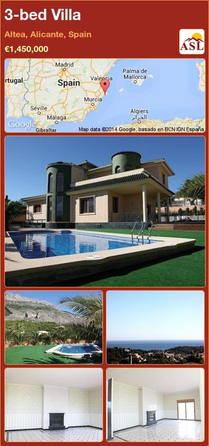 3-bed Villa in Altea, Alicante, Spain ►€1,450,000 #PropertyForSaleInSpain