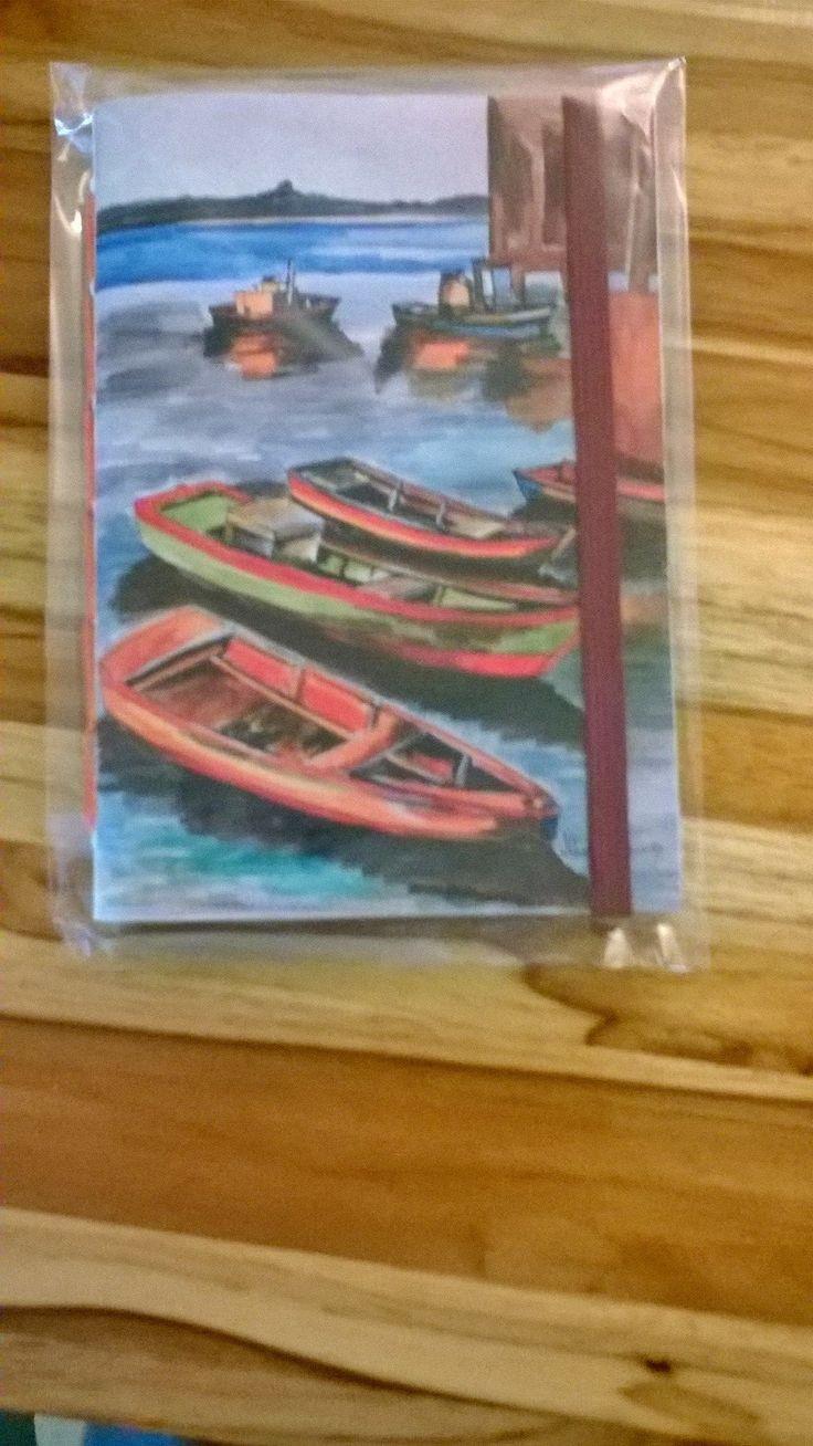 Caderninho da Lídia Quaresma, artista  plástica multimídia de Natal. Nessa coleção, as capas são gravuras de trabalhos da artista. Com miolo em papel reciclado.
