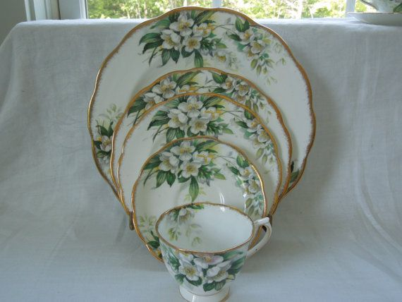 Royal Albert 5 Piece Place Setting Cup Saucer by ColorfullGifts