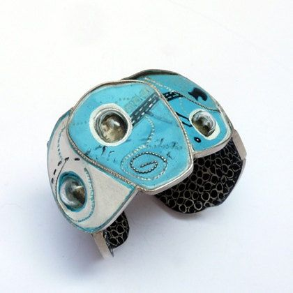 "Bracelet SILVIA WALZ  Serie Casitectura ""Under the Water"""