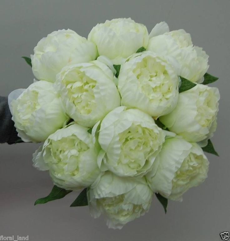 ARTIFICIAL SILK PEONY BRIDAL  ROSE WEDDING BOUQUETS FLOWERS