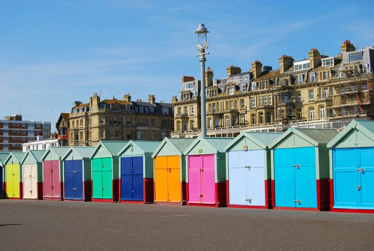 There are beach huts dotted along much of the seafront of Hove, all the way from Palmeria Square to Hove Lagoon - this is near our old seaview offices in Hove! http://www.travelnation.co.uk/contact-us