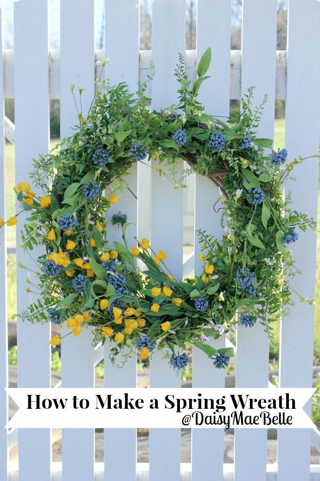 How to Decorate a Grapevine Wreath for Spring- Gorgeous!!!