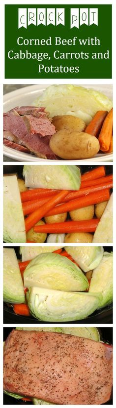 Crock Pot Corned Beef, Cabbage, Potatoes, Carrots. The easiest way to cook a corned beef dinner.See our other Irish recipes!