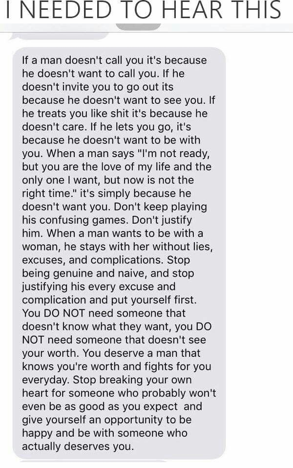 You deserve a man that knows your worth and fights for you everyday