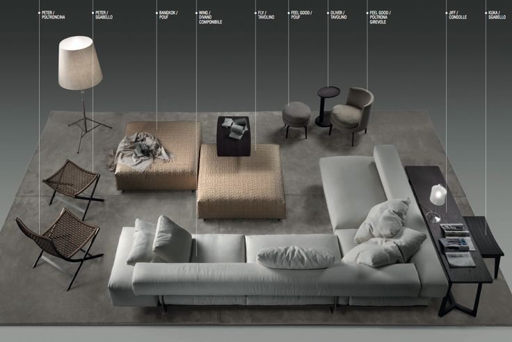 """""""Wing"""" sofa by Flexform. 