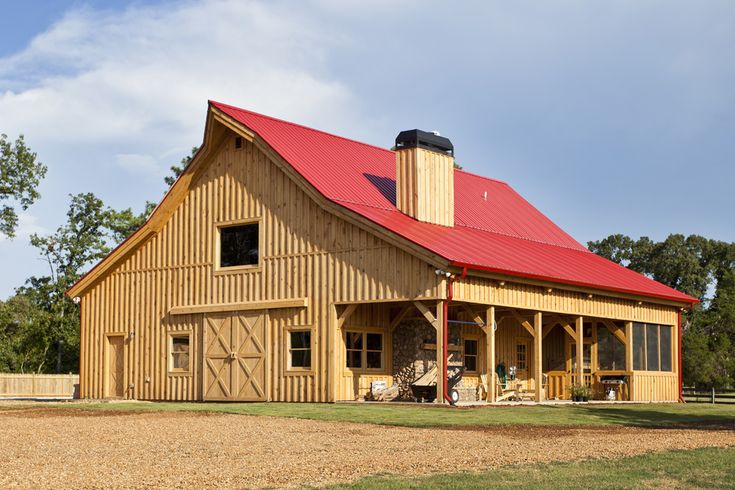1 1 2 story barn home with beautiful accessories www for Two story pole barn homes