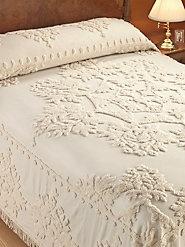 Winter Garden Chenille Bedspread