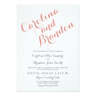 Classic Script   Elegant Wedding Invitation