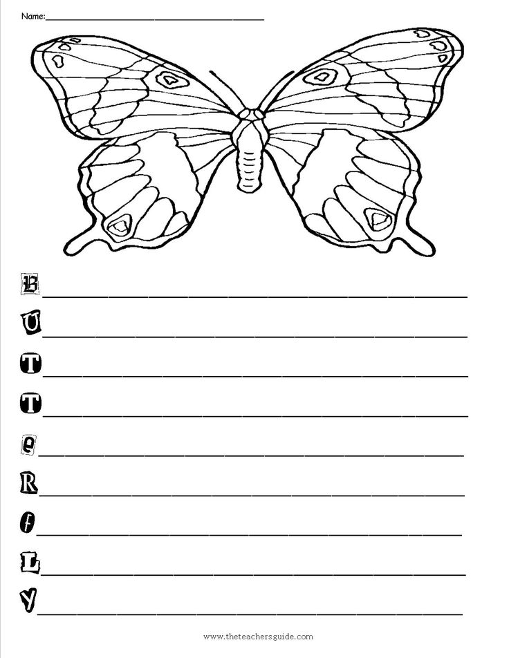 149 best images about butterflies on pinterest cut and for Poetry templates for kids