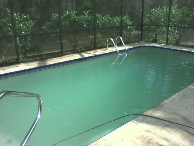 cloudy pool water, swimming pool care, how to clear up cloudy pool, pool water cloudy, basic pool care, pool algae, clearing up cloudy pool