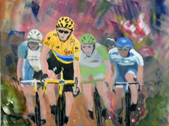 Bradley Wiggins Original Acrylic Painting in by JulianLovegroveArt, £60.00