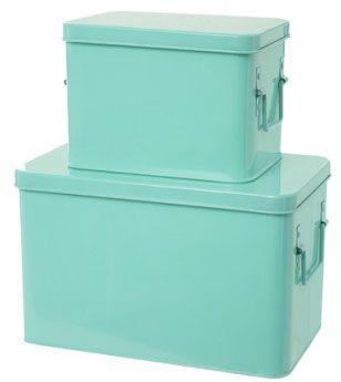 Förvaringslådor 2-pack - Mint