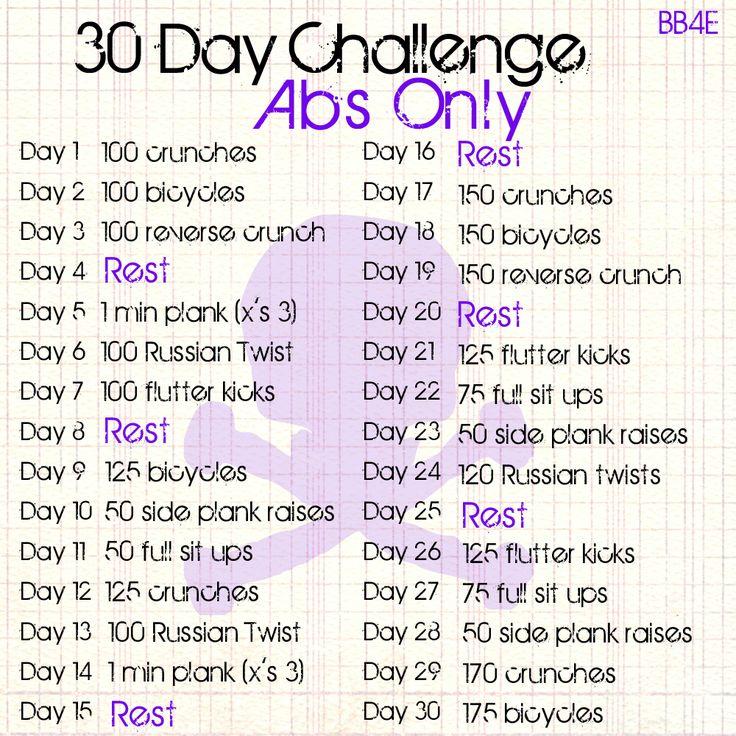 Best 25+ 30 day ab challenge ideas on Pinterest