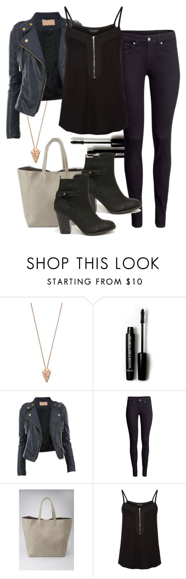 """Katherine inspired fall outfit"" by tvdstyleblog ❤ liked on Polyvore featuring Pamela Love, Forever 21, H&M and Breckelle's"