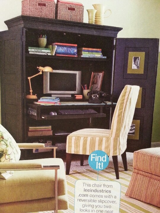 Armoire Office In The Living Room