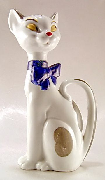 Cat Perfume Bottle Porcelain;