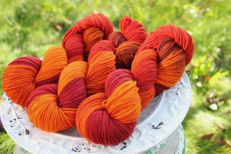 Red Autumn - Włóczka farbowana ręcznie - YarnAndArt - Włóczki ręcznie barwione