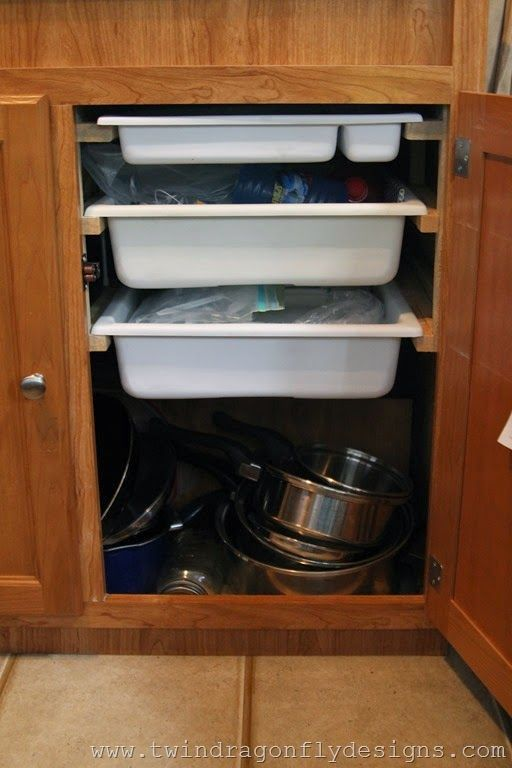 Whether you're in a tiny house, an RV/camper, or just want to make the most of your storage space  -- here is a great idea!