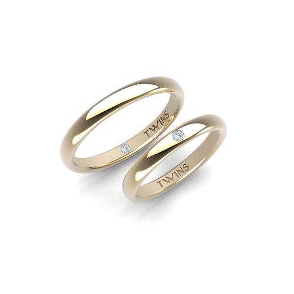 Alianzas de boda, oro amarillo #jewelry #diamonds
