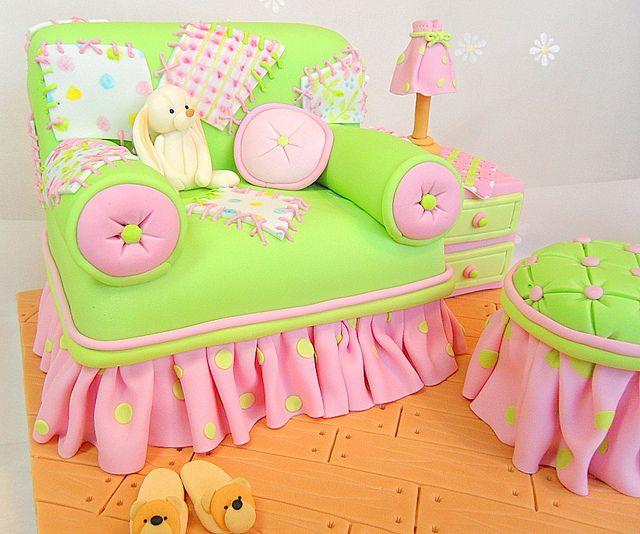 Sofa Cake for little girls