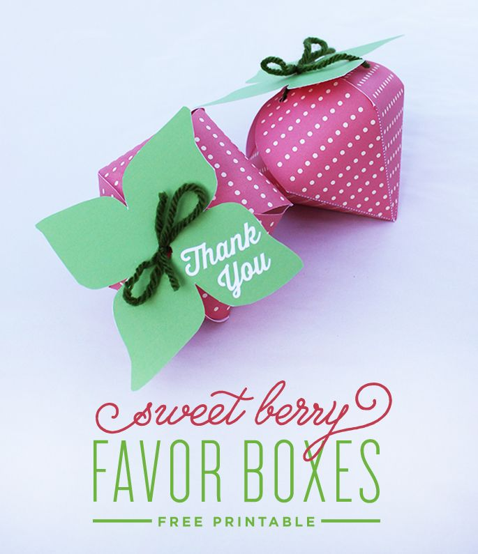 Berry Favor Boxes Tutorial with Free Printable