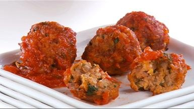 Giada De Laurentiis - Classic Italian Turkey Meatballs basil sauce and pasta