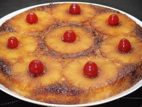 Receta: Pastel De Piña Volteado Casero - Silvana Cocina Y Manualidades - YouTube