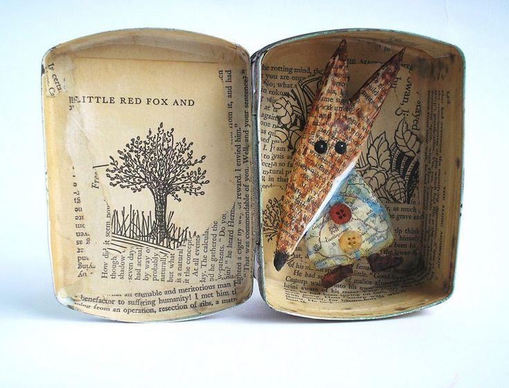 Bücher, Papier-Kunst, Mixed Media Art, DIY   Papierkünstlerin Colette Bain