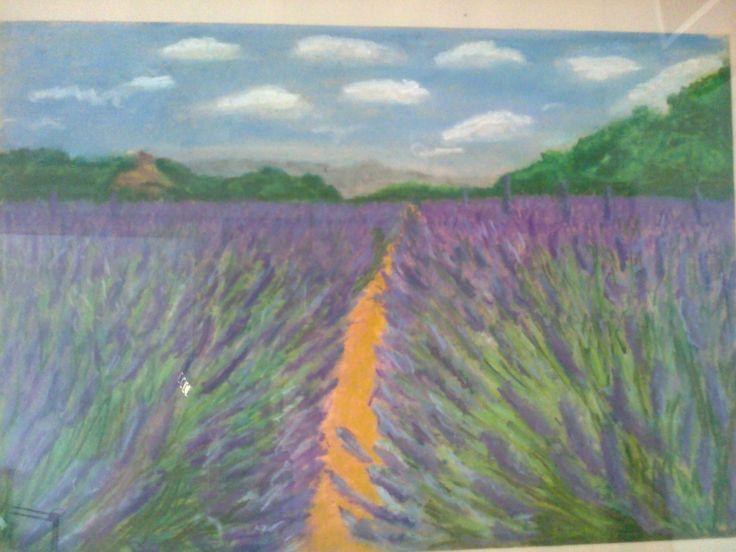 levandulová Provence křídou