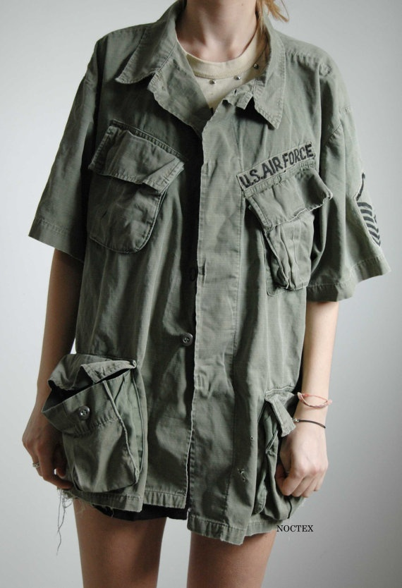 Vintage US Air Force Military Jacket by Noctex on Etsy, $55.00