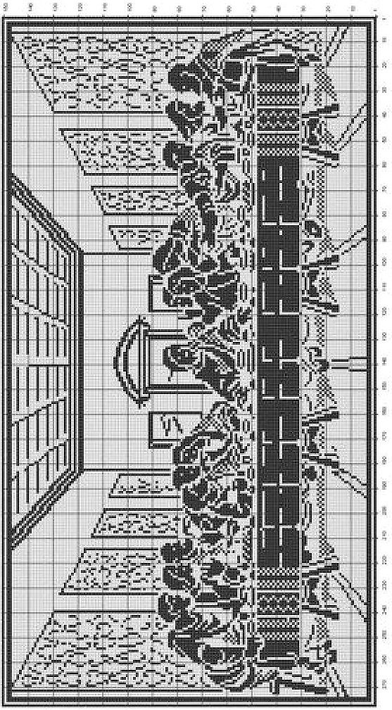 """""""The Last Supper"""" done in Blackwork"""