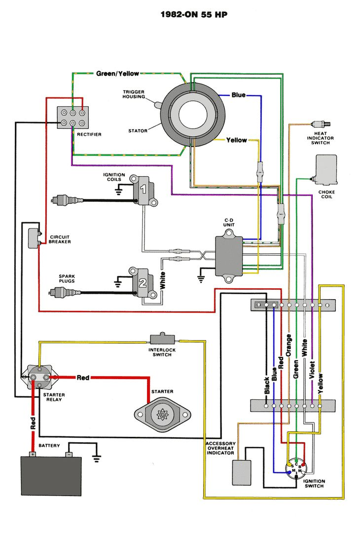 75 Hp Mariner Outboard Wiring Diagram Wiring Library Diagram Outboard Motors Outboard
