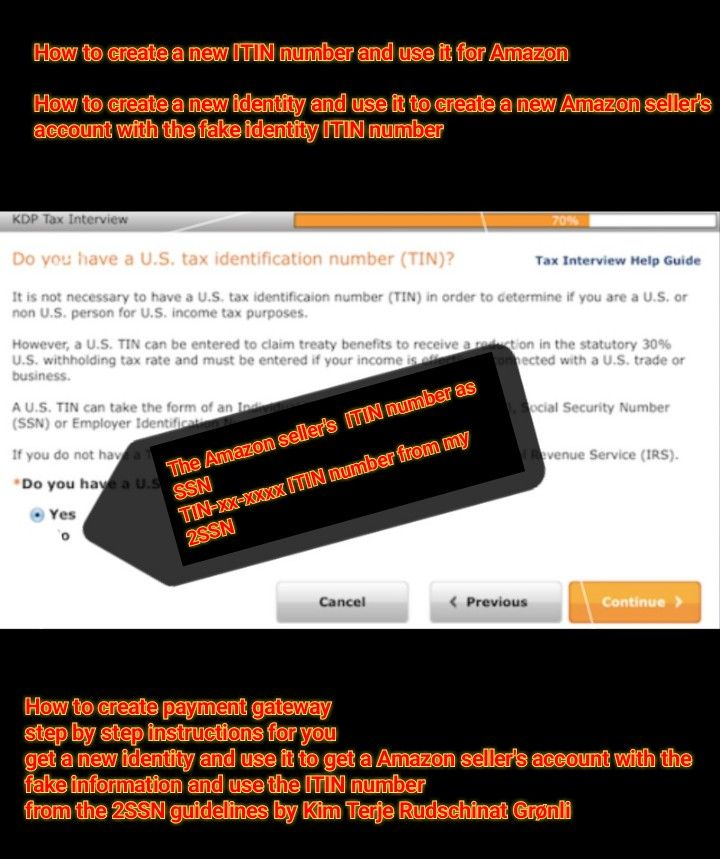 How To Make A Amazon Selling Account Using A Ssn Alternative Itin