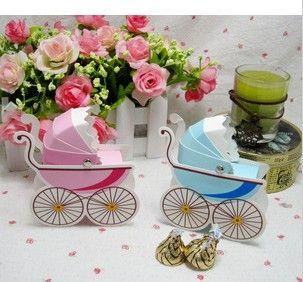 Baby Car Candy Box Christening Bomboniere
