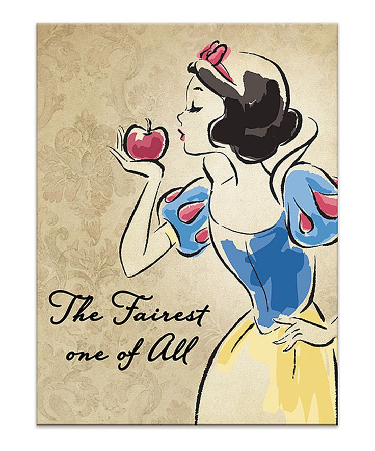 Love this Floral Vintage Snow White Fashionista Wrapped Canvas by Artissimo Designs on #zulily! #zulilyfinds