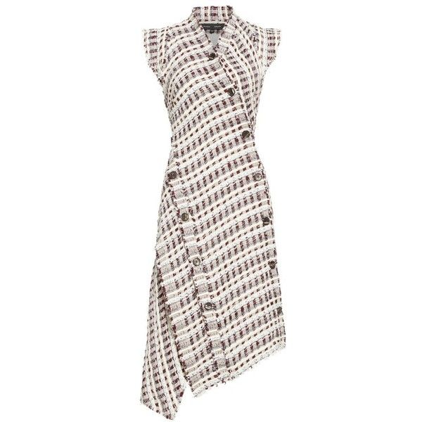 Women's Proenza Schouler Asymmetrical Tweed Dress ($1,890) ❤ liked on  Polyvore featuring dresses,
