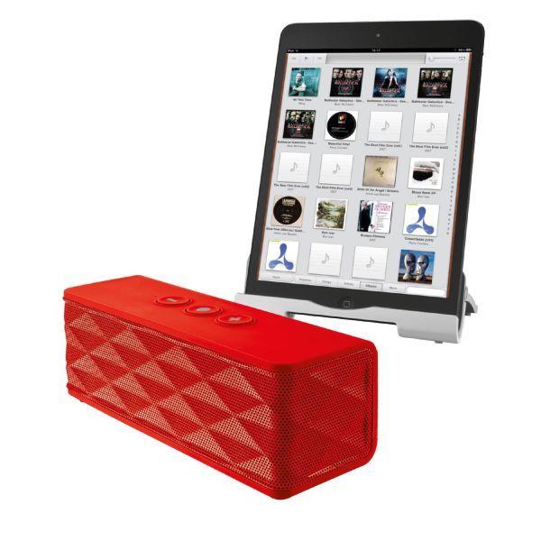 Ηχεία : Trust Jukebar Bluetooth Wireless Speaker Red 19314 : Ισχυρό ασύρματο ηχείο Bluetooth 2.0, με εμβέλεια 10μ, για smartphone και tablet – εκρηκτικός ήχος παντού! χρόνος αναπαραγωγής 17 ώρες.   Μόνο 41,06€ !!  #eldargr #Speakers #SpeakerSystem #portableSpeaker #sound #accessories #Trust